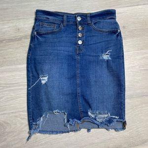 Noisy May ripped jean skirt size S
